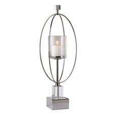 Uttermost Tamra Polished Silver Candleholders