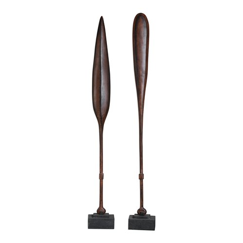 Uttermost Ceremonial Mahogany Paddles S/2