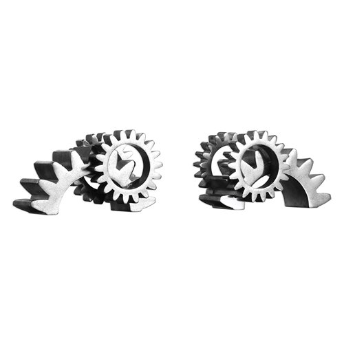 Uttermost Gears Silver Bookends S/2