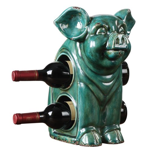 Uttermost Oink Ceramic Wine Holder