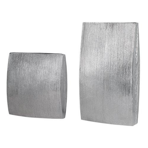 Uttermost Darla Aluminum Vases S/2