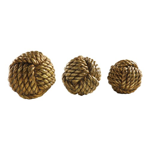 Uttermost Tali Rope Spheres S/3