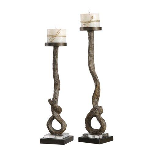 Uttermost Driftwood Candleholders S/2