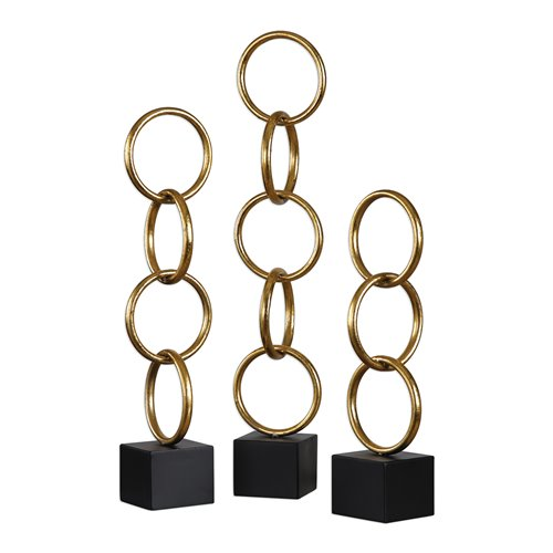 Uttermost Chane Gold Sculpture S/2