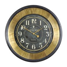 Uttermost Lannaster Black & Gold Wall Clock