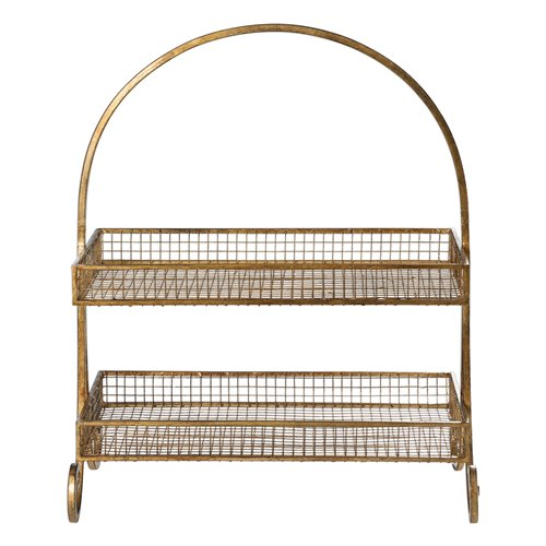 Uttermost Callen Wire Shelved Fruit Basket