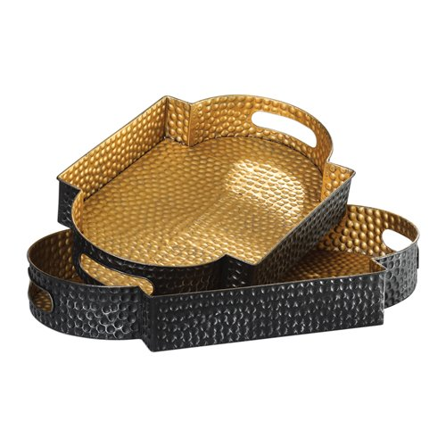 Uttermost Gatha Bronze & Gold Trays S/2