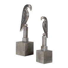 Uttermost Navya Silver Bird Sculptures S/2