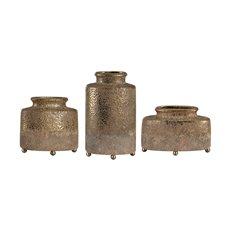 Uttermost Kallie Metallic Golden Vessels S/3