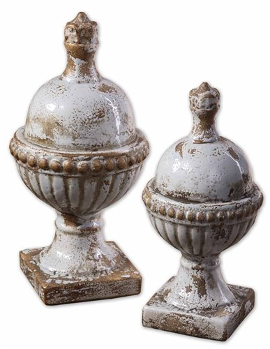 Uttermost Sini Ceramic Finials, Set/2