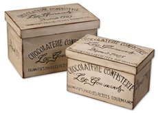 Uttermost Chocolaterie Decorative Boxes, Set/2