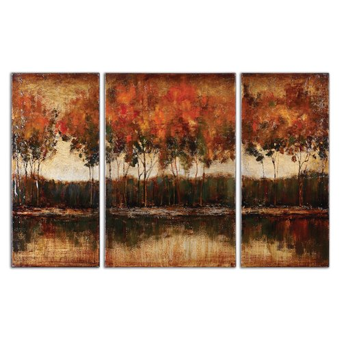 Uttermost Trilakes Canvas Art Set/3