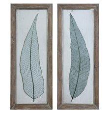 Uttermost Tall Leaves Framed Art Set/2