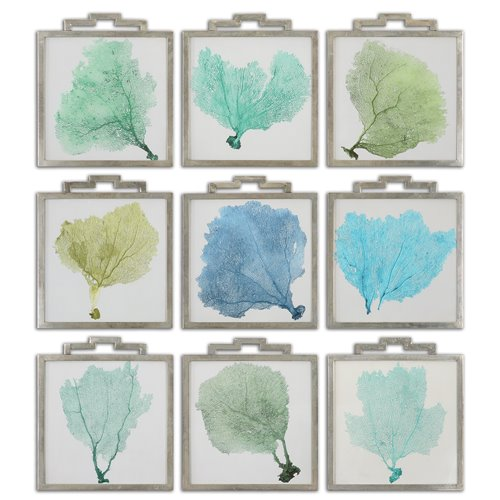 Uttermost Sea Fans Framed Art S/9