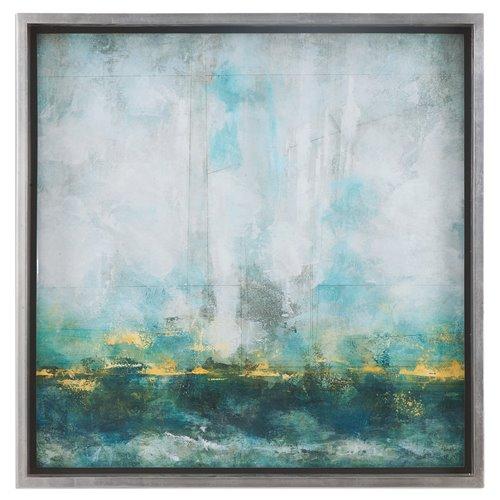 Uttermost Aqua Blue Abstract Art