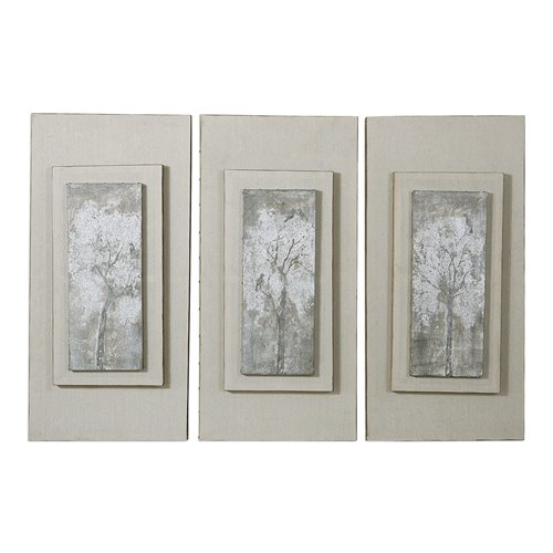 Uttermost Triptych Trees Hand Painted Art Set/3
