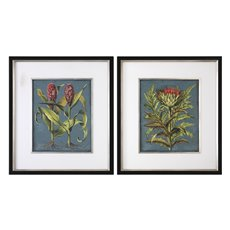 Uttermost Rhubarb And Artichoke Floral Prints S/2