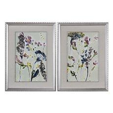 Uttermost Parchment Flower Field Prints, Set Of 2