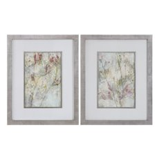 Uttermost Flower Dreams Pastel Prints S/2