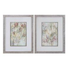 Uttermost Flower Dreams Pastel Prints S/2