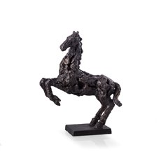 Mustang Horse Sculpture with Antracid Glazed Metal