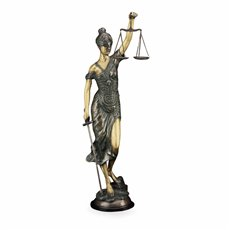39 Lady Justice Statue with Bronzed Finish