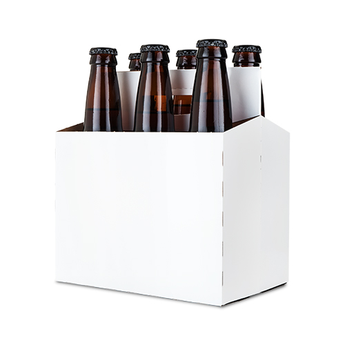 White Cardboard 6-Pack Carriers (set of 190)