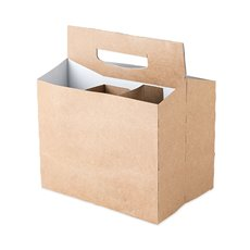 Kraft Cardboard 6-Pack Carriers