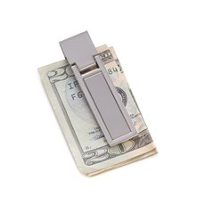 Silver Plated Hinged Money Clip