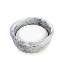 Solid Marble Shaving Bowl in Grey Holds Standard Shave Soap