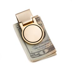Gold Plated Hinged Money Clip