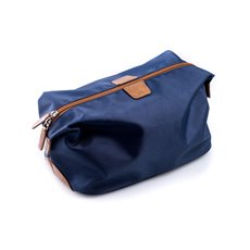 Blue Ballistic Nylon Travel Dopp Kit with Multi Compartments and Zippered Closure