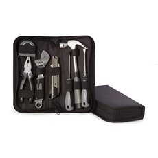 8 Piece Tool Set in Zippered Black Canvas Case Set