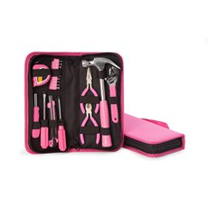 20 Piece Lady's Tool Set in Zippered Pink Canvas Case Set