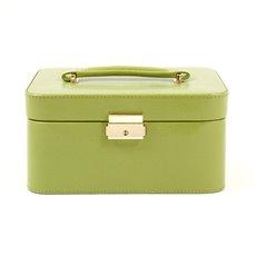 Lime Green Lizard Debossed Leather Jewelry Box