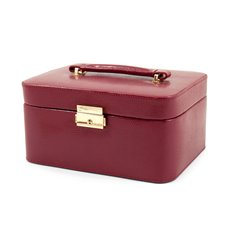 Red Lizard Debossed Leather Jewelry Box