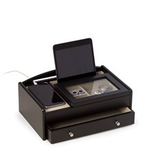 Matte Black Wood Valet Box