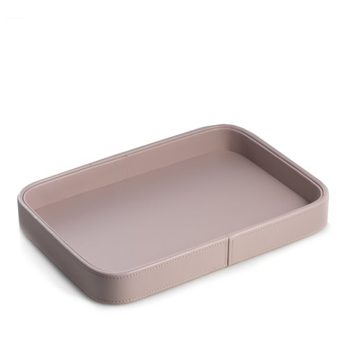 Light Purple Open Face Leatherette Valet Tray