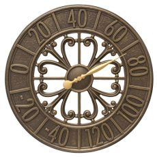 "Villanova 21"" Indoor Outdoor Wall Thermometer, French Bronze"
