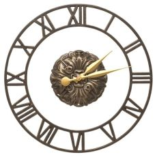 "Cambridge Floating Ring 21"" Indoor Outdoor Wall Clock, French Bronze"