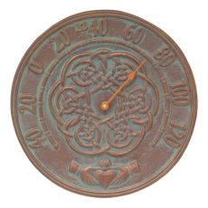 Celtic Knot Outdoor Thermometer, Copper Verdigris