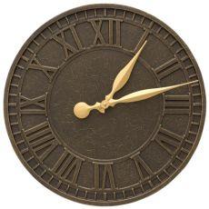 """Geneva 16"""" Indoor Outdoor Wall Clock, French Bronze"""