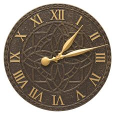 "Artisan 16"" Indoor Outdoor Wall Clock , French Bronze"