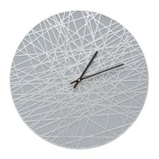 "Banded 16"" Indoor Outdoor Wall Clock , Grey / Silver"