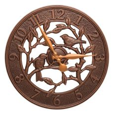 "Woodridge 16"" Indoor Outdoor Wall Clock, Antique Copper"