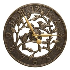 "Woodridge 16"" Indoor Outdoor Wall Clock, French Bronze"