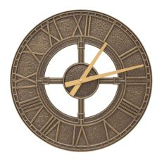 "Hera 16"" Indoor Outdoor Wall Clock, French Bronze"