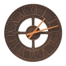 "Hera 16"" Indoor Outdoor Wall Clock, Oil Rubbed Bronze"