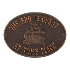 Personalized Grill Plaque, Antique Copper