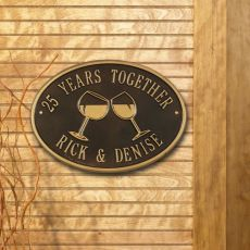 Personalized Wine Plaque, Bronze / Gold